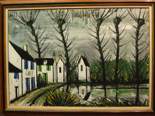 Bernard Buffet: Le Cafe, 1994 - painting