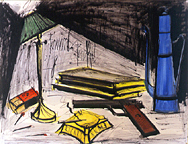 Bernard Buffet: Nature Morte au Pot a Café et Cendrier, 1978 - Watercolor