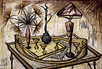 Bernard Buffet: Still Life with Tiffany Lamp, 1990  | Painting
