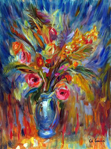Charles Camoin: Bouquet of Flowers - Painting