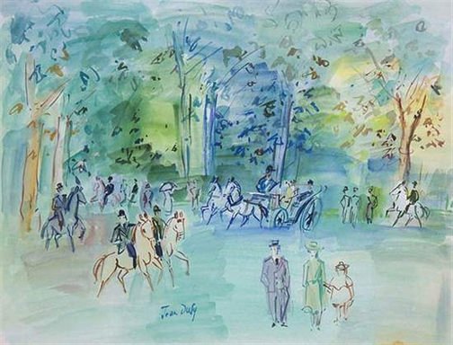 Jean Dufy: Untitled - gouache on paper