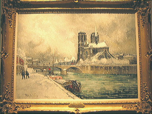 Frank-Will: Notre-Dame sous la Neige, 1929 - painting